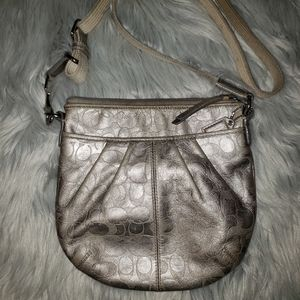 Vintage Coach Gray Crossbody